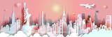 Fototapeta Nowy Jork - Travel New York City Liberty statue landmark in Manhattan.
