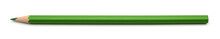 Single Green Pencil Isolated O...