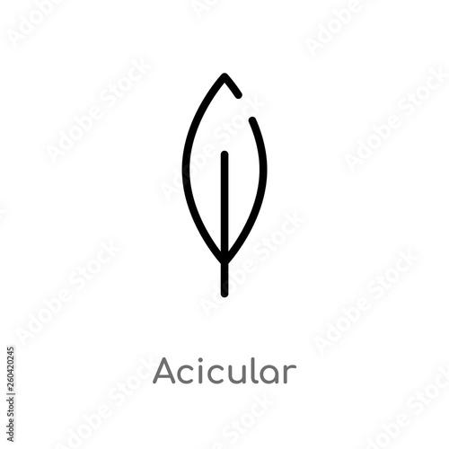 outline acicular vector icon Wallpaper Mural