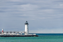 Lighthouse And Beacon In Manistee, Michigan 10352.psd
