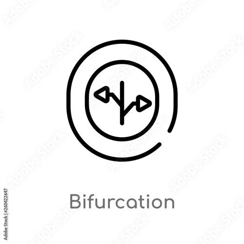 Fotografie, Obraz  outline bifurcation vector icon