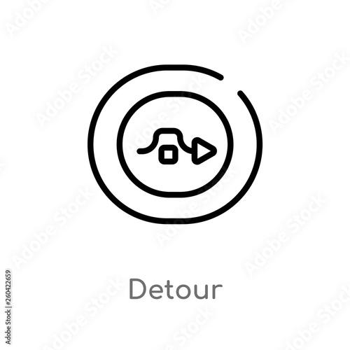 Fotografie, Obraz  outline detour vector icon