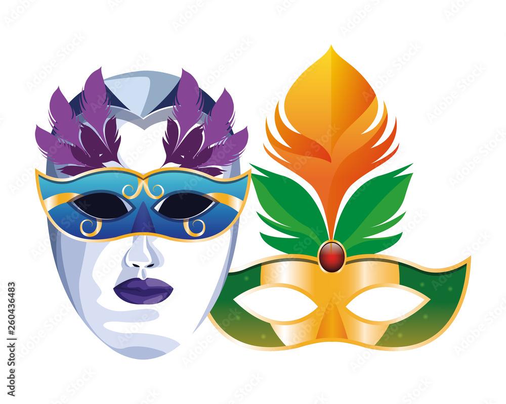 Fototapeta masks with feathers