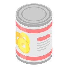 Pineapple Tin Can Icon. Isomet...