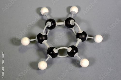 Photo Molecule model of traditional benzene ring