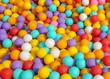 Multi-colored balls in a children's attraction