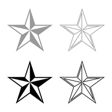 Star Five Corners Pentagonal S...