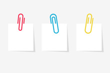 Colored Paperclip With Blank W...