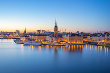 Night View Of Stockholm City S...
