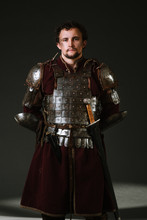 Medieval Man Knight In Armor A...