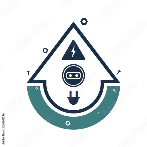 Repair Services Logo Icon Electrical Services Electrical Wiring Installation And Connection Vector Illustration Buy This Stock Vector And Explore Similar Vectors At Adobe Stock Adobe Stock
