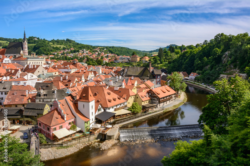 Photo  Cesky Krumlov on a summer day, Czech Krumlov, Czech Republic