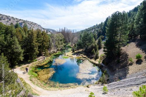 beautiful natural spring at mountain