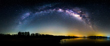 Panorama View Of Milky Way At ...