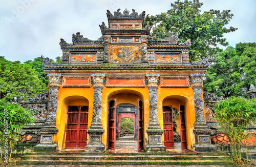 Vászonkép Ancient gate at the Imperial City in Hue, Vietnam