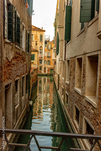 Italy, Venice, view of a canal between the buildings. © benny