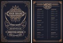 Vintage Restaurant Menu Templa...