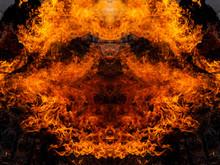 Fiery Face. God Of Fire. The Living Sun.