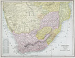canvas print picture - Old map. Engraving image