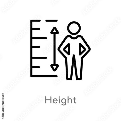 Fotografía  outline height vector icon