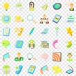 Call center icons set. Cartoon style of 36 call center vector icons for web for any design
