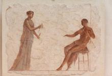 Ancient Roman Fresco Showing A Couple