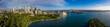Leinwanddruck Bild Unique panoramic view of the beautiful city of Sydney, Australia