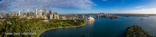 Leinwanddruck Bild - Michael Evans : Unique panoramic view of the beautiful city of Sydney, Australia