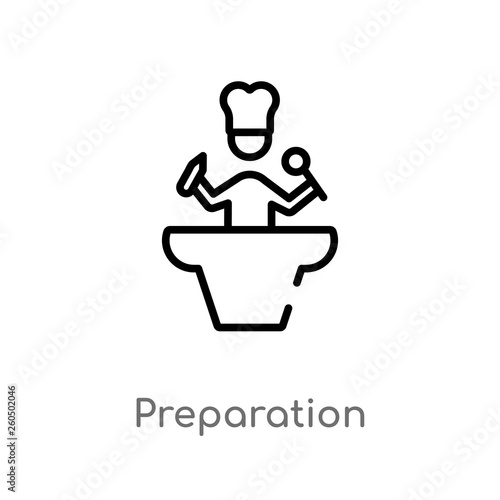 Fotografie, Obraz  outline preparation vector icon