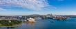 Leinwanddruck Bild Wide panoramic view of the beautiful city of Sydney, Australia