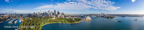 Wide panoramic view of the beautiful city of Sydney, Australia © Michael Evans