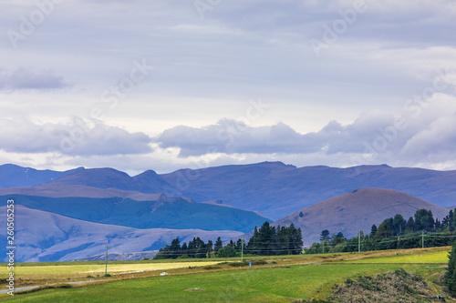 Fototapeta Landscape scenery in south New Zealand obraz na płótnie