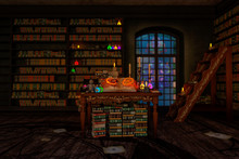 Mystic Room Or Alchemist`s Stu...