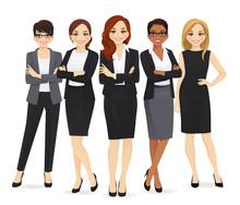 Business Woman Team Set