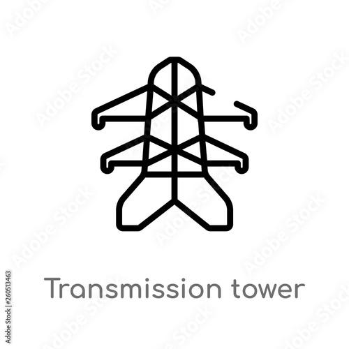 Valokuva  outline transmission tower vector icon