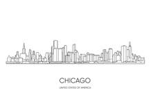 Chicago Skyline. Vector Illustration