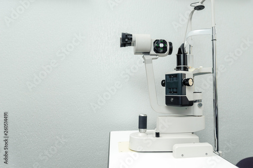 Cuadros en Lienzo Ophthalmic equipment - slit lamp - in the doctor's office.