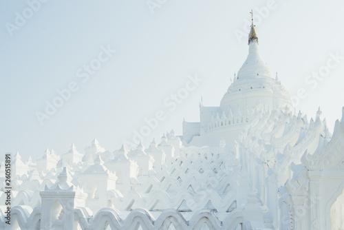 Fotografie, Obraz  Mingun white pagoda in Mandalay. Myanmar