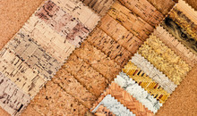 Cork Stylized Pieces Of Material; Background; Fabric Samples; Cork Surface
