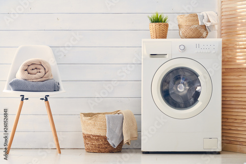 Fotomural  laundry room with a washing machine
