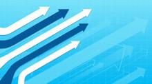 Financial Arrow Graphs Concept