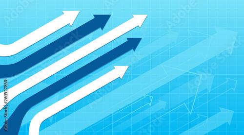 Obraz Financial Arrow Graphs concept - fototapety do salonu
