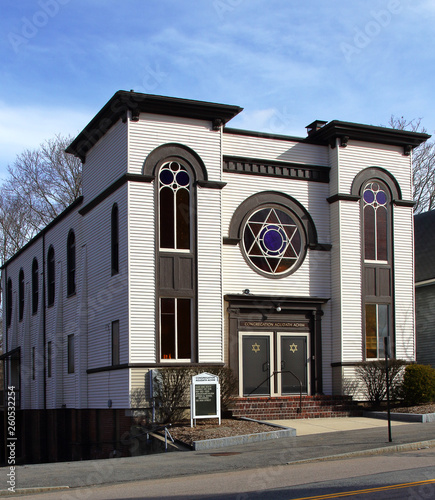 Fotografie, Obraz Historical synagogue in Taunton, Massachusetts, USA