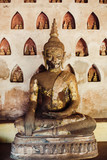 Statue of buddha in Laos old temple Wat Sisaket. - 260532411