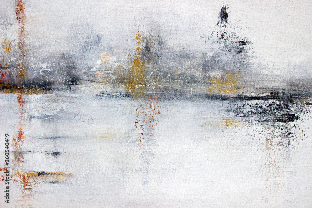 Fototapeta abstract white acrylic painting on canvas