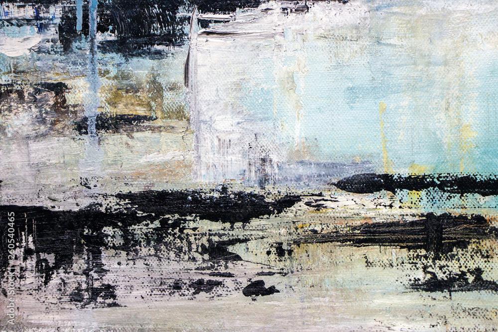 Fototapeta abstract acrylic painting on canvas