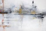 streszczenie biały obraz akrylowy na płótnie - 260540419