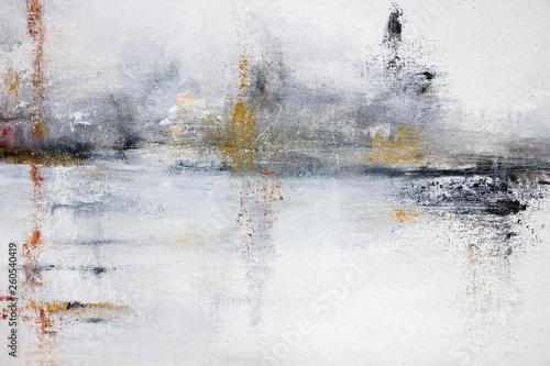 Obraz abstract white acrylic painting on canvas  - fototapety do salonu