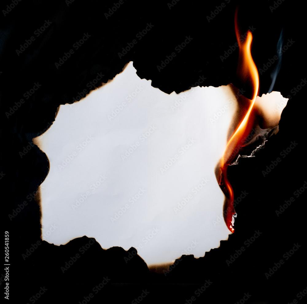 Fototapeta burning paper