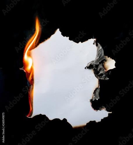 burning paper Fototapete